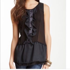 Free People Paint The Town Ruffled Tuxedo Top
